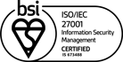 ISO 27001 Certificate badge PARK NOW